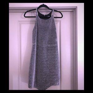 Express Silver midi dress.